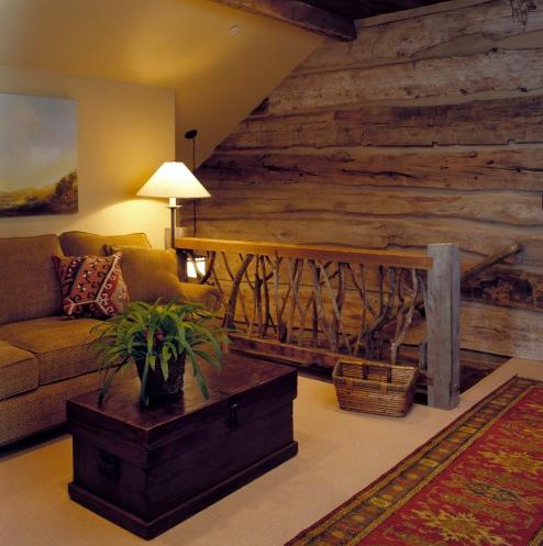Log-cabin-railing