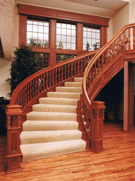 rustic stair railings
